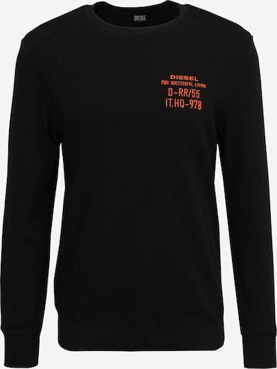 DIESEL Суичър 'WILLY' в оранжево / черно: Изглед отпред