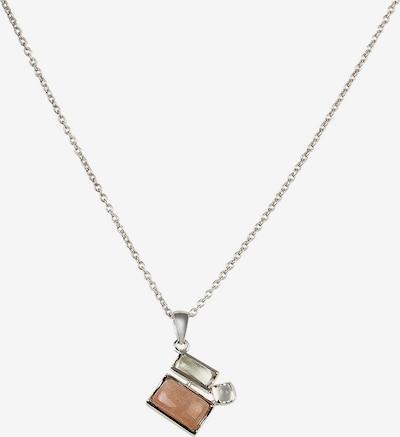 Carolin Stone Kette in braun / silber, Produktansicht