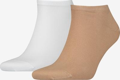 Tommy Hilfiger Underwear Enkelsokken in de kleur Beige / Wit, Productweergave
