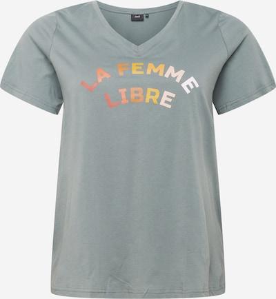 Zizzi Tričko 'FIERCE' - pastelovo zelená / zmiešané farby, Produkt