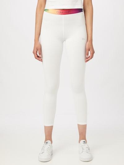 Calvin Klein Performance Sporthose in mischfarben / weiß, Modelansicht