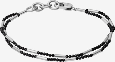 FOSSIL Náramek 'Edelstahl Farbstein ' - černá / stříbrná, Produkt
