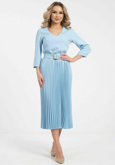 Wisell Kleid in blau / hellblau, Modelansicht