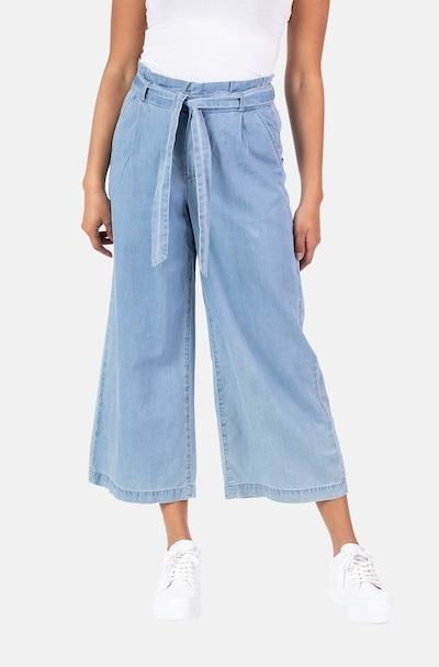 Blue Monkey Pleated Jeans ' Betty' in Light blue, View model