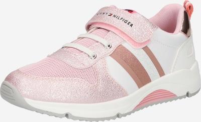 TOMMY HILFIGER Baskets 'Velcro' en rose / argent / blanc, Vue avec produit