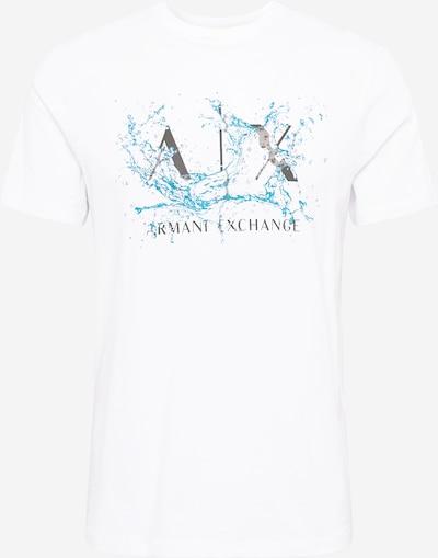 ARMANI EXCHANGE Majica   nebeško modra / črna / bela barva, Prikaz izdelka