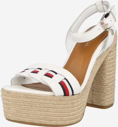 Sandale TOMMY HILFIGER pe alb, Vizualizare produs