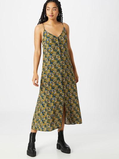 VILA Kleid 'VIALETA' in royalblau / gelb / schwarz / weiß, Modelansicht