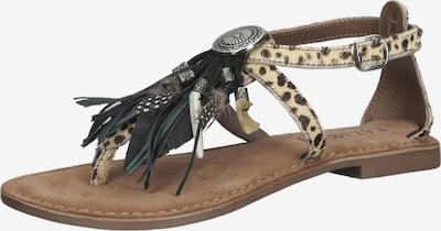 LAZAMANI Sandale in beige / braun / schwarz, Produktansicht