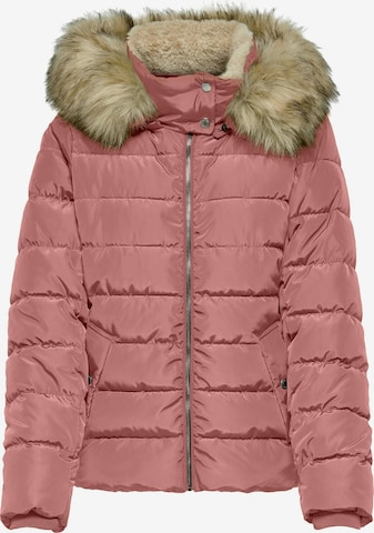 ONLY Winter Jacket 'Camilla' in Pink