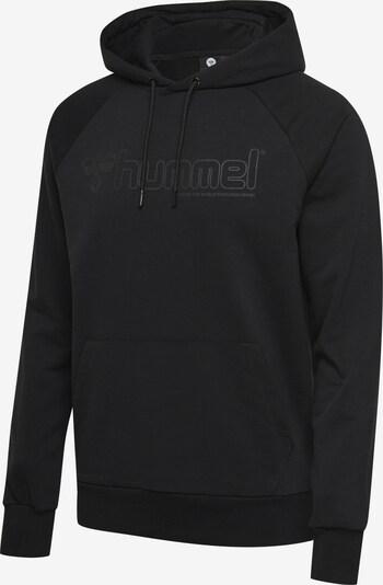 Hummel Hoodie in grau / schwarz, Produktansicht