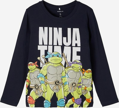 NAME IT T-Shirt 'Teenage Mutant Ninja Turtles' en bleu nuit / mélange de couleurs / blanc, Vue avec produit
