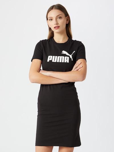 PUMA Robe en noir / blanc, Vue avec modèle