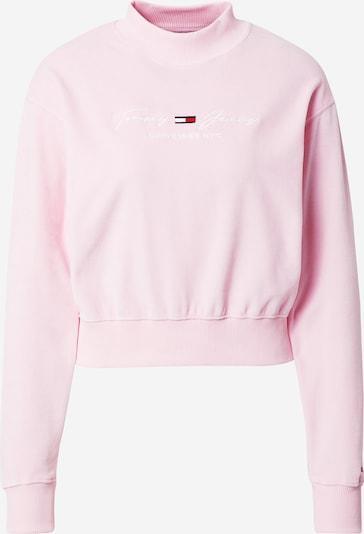 Tommy Jeans Sweatshirt in pink / weiß, Produktansicht