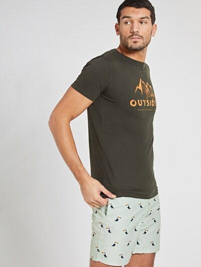 Shiwi Tričko 'Outsider' - tmavozelená / oranžová: Pohľad spredu