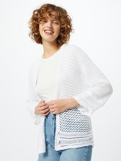 Hailys Strickjacke 'Carola' in weiß, Modelansicht