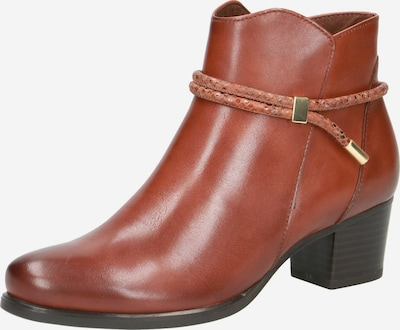 CAPRICE Bottines en marron: Vue de face