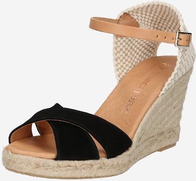 MACARENA Sandale 'CARLA11-AY' in beige / schwarz / weiß, Produktansicht