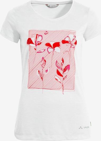 VAUDE Funktionsshirt 'Skomer' in pink / rot / weiß, Produktansicht