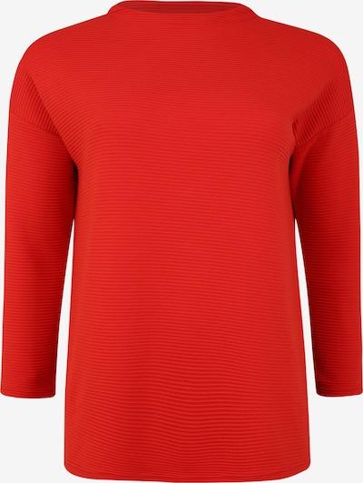Doris Streich Pullover mit Rippstruktur in rot, Produktansicht