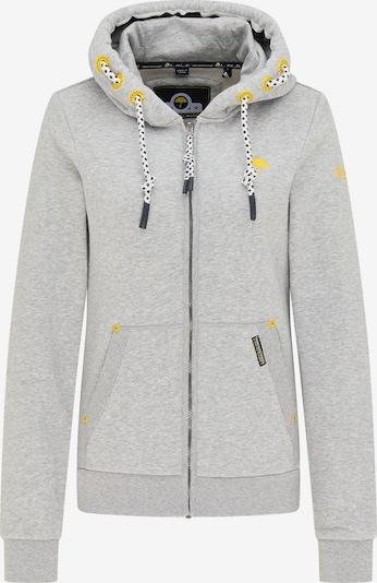 Schmuddelwedda Sweatjacke in gelb / grau / schwarz / weiß, Produktansicht