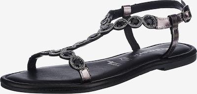 Sandalo con cinturino TAMARIS di colore color fango / grigio scuro / nero, Visualizzazione prodotti