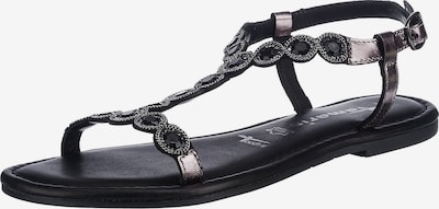 TAMARIS Páskové sandály - barvy bláta / tmavě šedá / černá, Produkt
