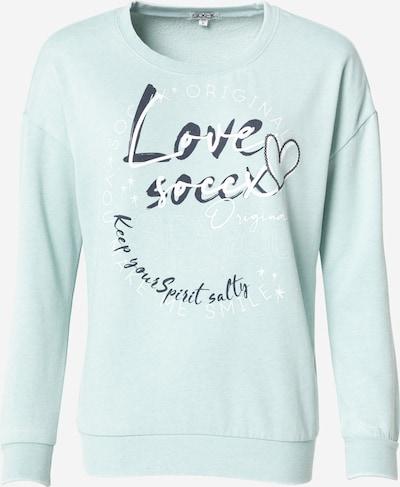 Bluză de molton Soccx pe bleumarin / turcoaz / alb, Vizualizare produs