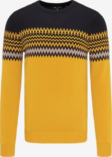 MO Pullover in gelb / greige / schwarz, Produktansicht