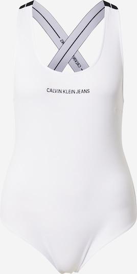éjkék / fehér Calvin Klein Jeans Rövid body 'MILANO', Termék nézet