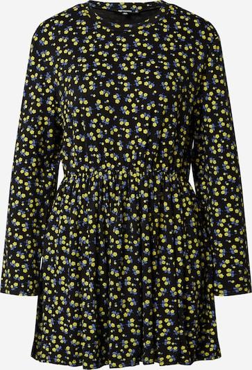 Missguided Kleid in himmelblau / gelb / schwarz, Produktansicht