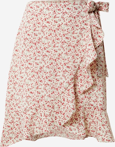 Missguided (Tall) Rock in creme / rot, Produktansicht