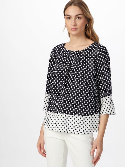 TAIFUN Bluse in nachtblau / weiß, Modelansicht