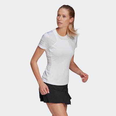 ADIDAS PERFORMANCE Shirt in hellgrau / weiß: Frontalansicht