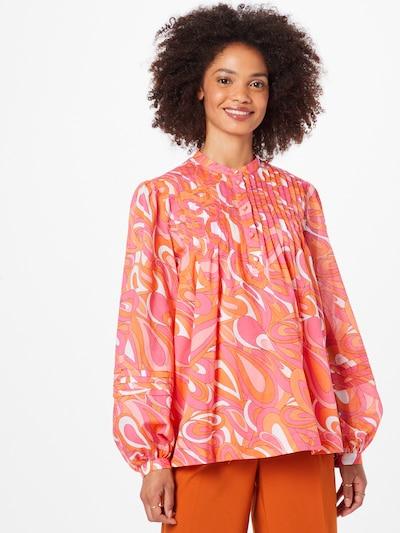 Bluză 'GROOVY SWIRL' MICHAEL Michael Kors pe portocaliu închis / roz / roz închis / alb, Vizualizare model