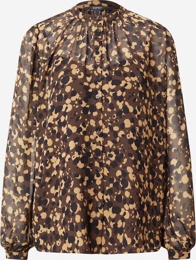 Esprit Collection Bluse in braun / hellgelb / schwarz, Produktansicht