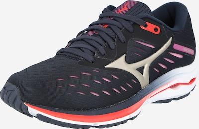 MIZUNO Zapatillas de running 'WAVE RIDER 24' en fucsia / negro / plata, Vista del producto