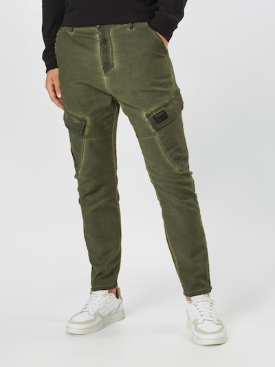 tigha Pantalon cargo 'Avan' en kaki, Vue avec modèle