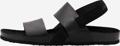 JACK & JONES Sandals in Anthracite / Black, Item view