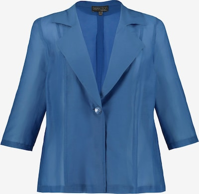 Ulla Popken Blusenjacke in himmelblau: Frontalansicht