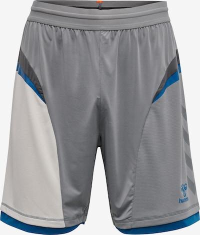 Hummel Shorts in blau / grau / schwarz / weiß, Produktansicht