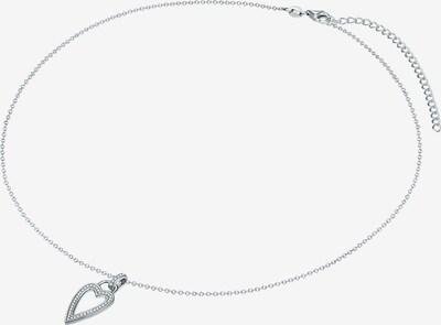 Rafaela Donata Silberhalskette mit herzförmigem Anhänger aus Zirkonia-Steinen in silber: Frontalansicht