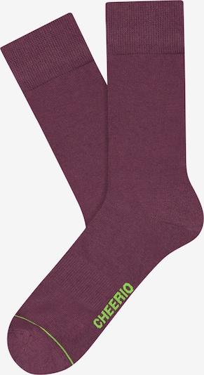 CHEERIO* Socken 'Best Friend' in lila, Produktansicht