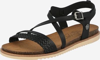 Sandale cu baretă MUSTANG pe negru, Vizualizare produs