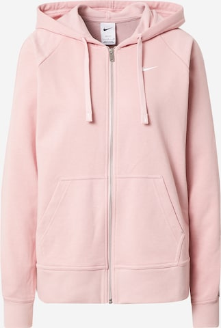 NIKE Athletic Zip-Up Hoodie 'Get Fit' in Pink
