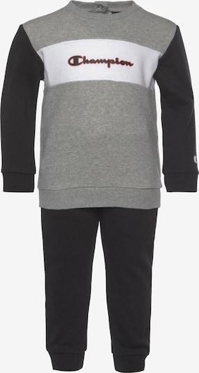Champion Authentic Athletic Apparel Jogginganzug in grau / schwarz / weiß, Produktansicht