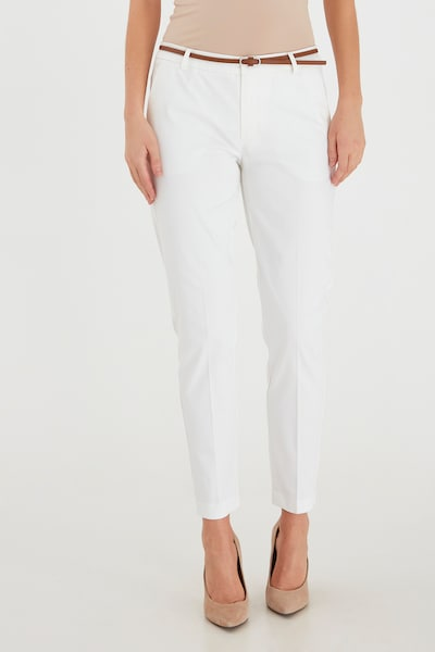 b.young Chinohose in offwhite, Modelansicht