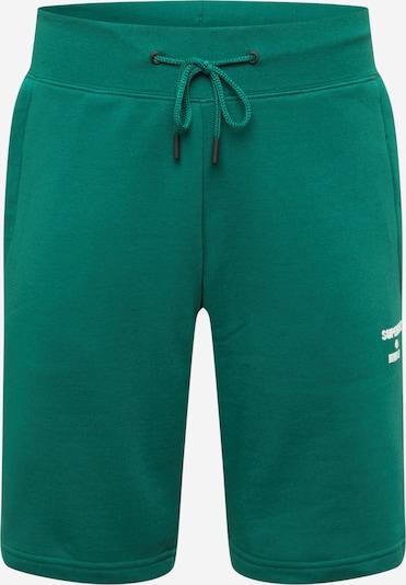 Superdry Pantalon de sport en sapin / blanc, Vue avec produit