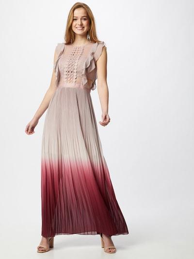 APART Abendkleid mit Sonnenplissée-Rock in mauve / bordeaux, Modelansicht
