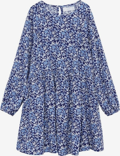 MANGO KIDS Kleid in beige / rauchblau / dunkelblau, Produktansicht